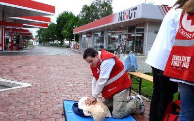 """23 – 29.april 2008. Međunarodna nedelja bezbednosti u saobraćaju Benzinska pumpa """"Minut"""""""