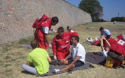 Svetski dan prve pomoći – Združena pokazna vežba Petrovaradinska tvrđava, 08.septembar 2012.